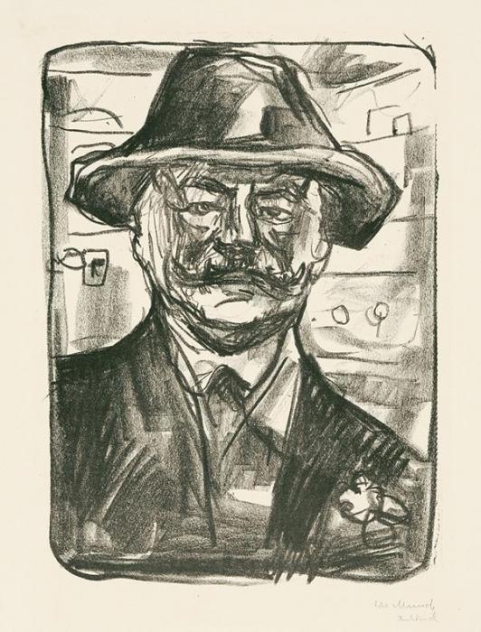 Edvard Munch-Boheme - Im Kupe-1916
