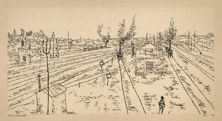 Paul Klee-Munchen Hauptbahnhof-1911