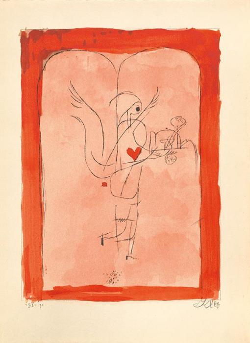 Paul Klee-Ein Genius Serviert Ein Kleines Fruhstuck - Engel Bringt Das Gewunschte-1920