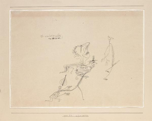Paul Klee-Das Ziel Wider Willen (The Goal Against His Will)-1928