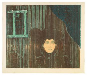 Edvard Munch-Maneskinn / Moonlight / Mondschein-1906