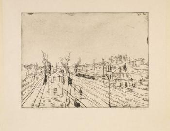 Paul Klee-Bahnhof (Railroad Station)-1911
