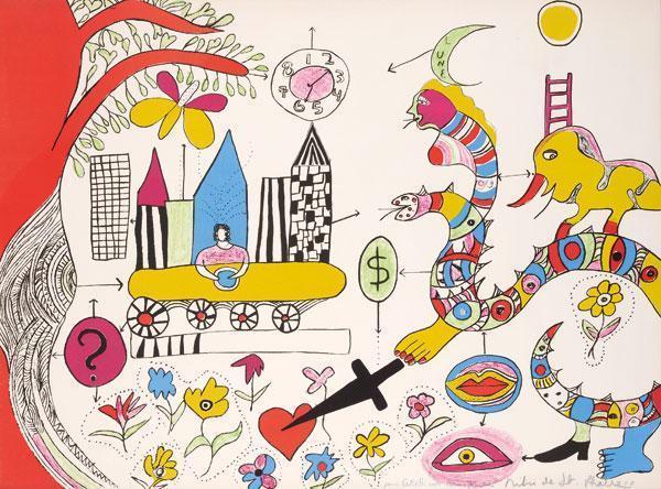 Niki de Saint Phalle-Das Messer, (Reve de jeune fille)-1972