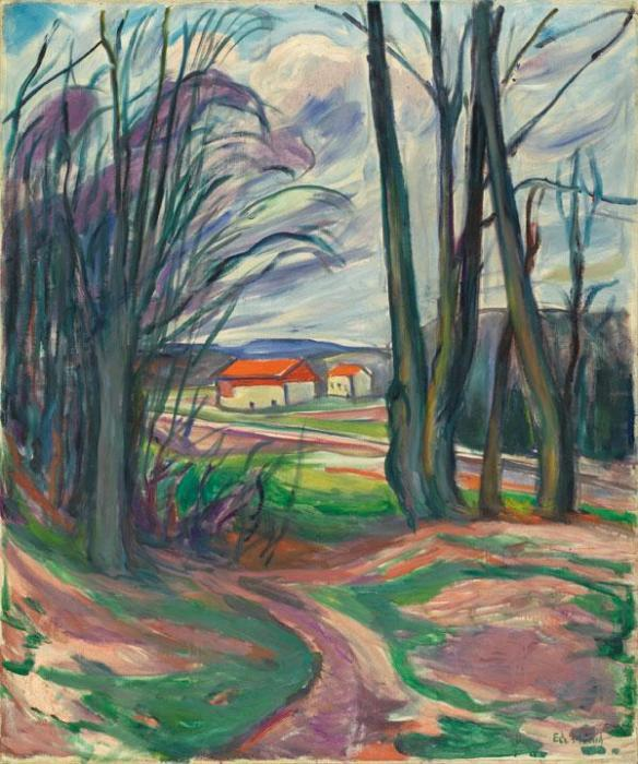 Edvard Munch-Landschaft in Skoyen-1928