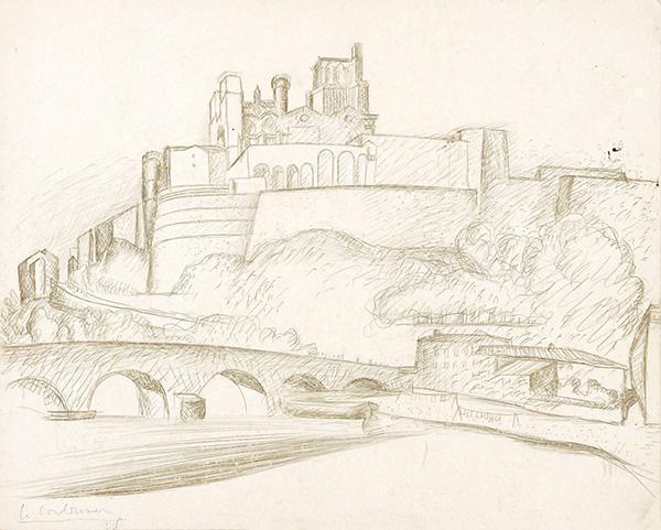 Le Corbusier-Ansicht einer mittelalterlichen Stadtanlage-1928