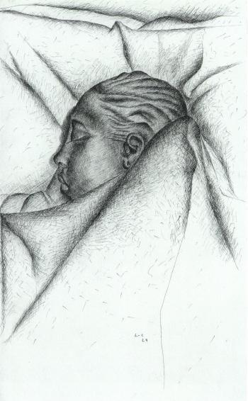 Le Corbusier-Die schlafende Josephine Baker (Josephine Baker sleeping)-1929