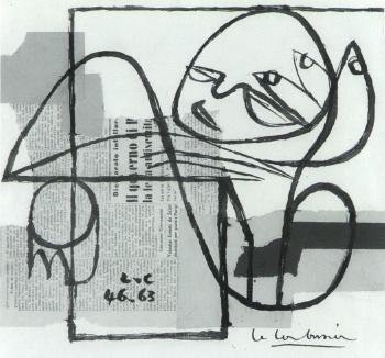 Le Corbusier-Femme se reposant-1963