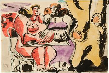 Le Corbusier-Deux femmes sous un arbre-1933