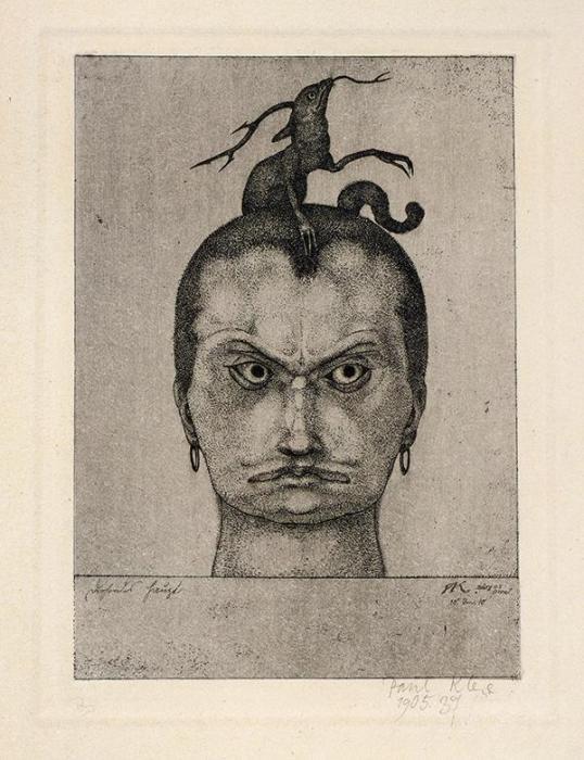 Paul Klee-Drohendes Haupt - Inv. 10-1905