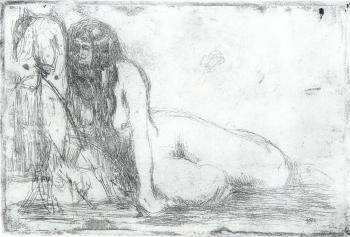 Edvard Munch-Geheimnis / Secret (Woll 436)-1913