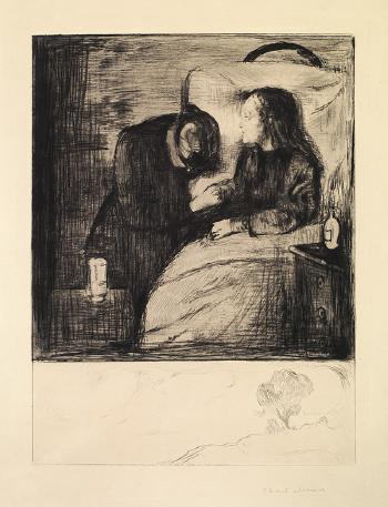 Edvard Munch-Das kranke Kind I / Das kranke Madchen / The Sick Child / The Sick Woman / Det syke barn (Schiefler 7; Woll 7)-1894