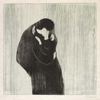 Edvard Munch-Der Kuss III-1898