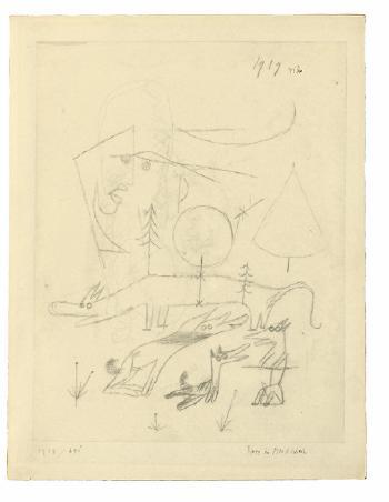 Paul Klee-Tiere Im Mondschein (Animals By Moonlight)-1919