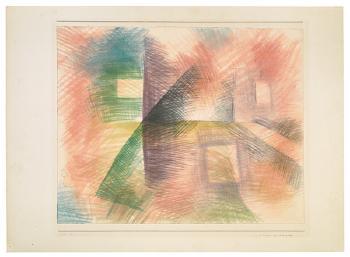 Paul Klee-Hauser Am Kreuzweg-1929