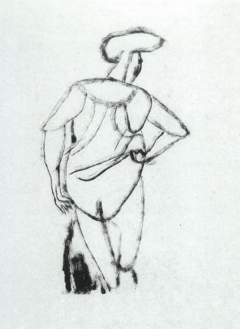 Paul Klee-Akt (Nude)-1912