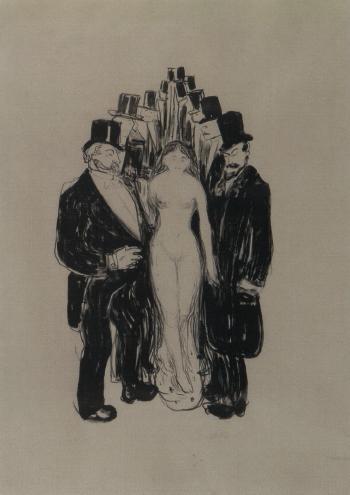 Edvard Munch-The Alley / Die Gasse, Carmen / Alley - Carmen / Die Gasse / Street Scene-1895