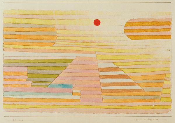 Paul Klee-Abend in Aegypten (Evening In Egypt)-1929