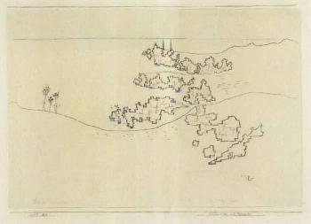 Paul Klee-Felsenkuste Auf Porquerolles (Rock Coast On Porquerolles)-1927