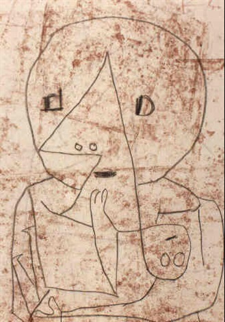Paul Klee-Mit Ihrem Kind (With Her Child)-1940