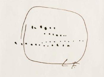 Lucio Fontana-Concetto spaziale - Segno antidisegno-