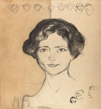 Edvard Munch-Edith Rode-1909