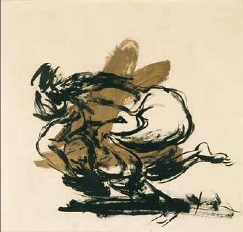 Lucio Fontana-Zwei weibliche Akte-1965