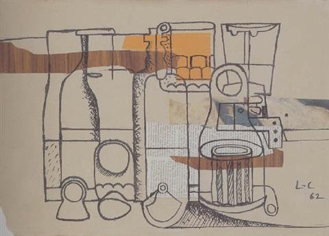 Le Corbusier-Bouteilles et verres-1962