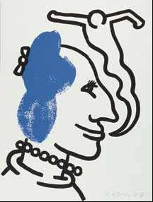 Keith Haring-Keith Haring - Bl. 6 aus der Folge: The story of red + blue-1990