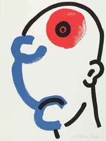 Keith Haring-Keith Haring - Bl. 13 aus der Folge : The story of red + blue-1990