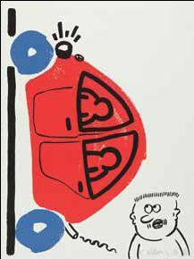 Keith Haring-Keith Haring - Bl. 15 aus der Folge: The story of red + blue-1990