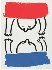Keith Haring-Keith Haring - Bl. 16 aus der Folge: The story of red + blue-1990