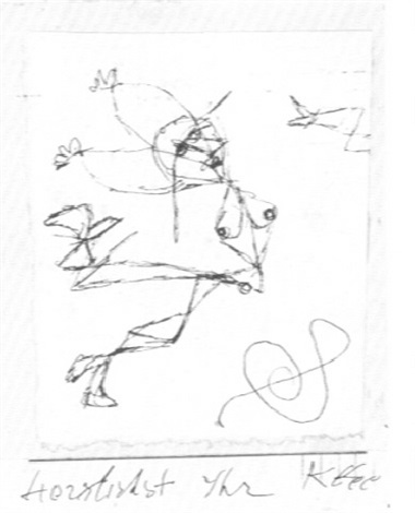 Paul Klee-Kleine Figurliche Komposition (Small Figurative Composition)-1913