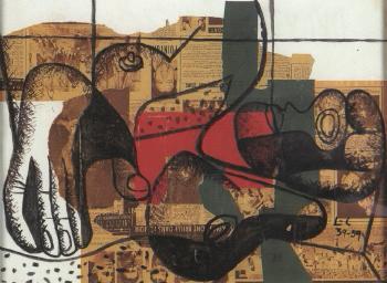 Le Corbusier-Femme et main-1959