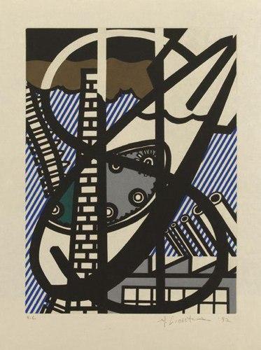 Roy Lichtenstein-Illustration for Une Fenetre ouverte sur Chicago-1992