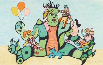 Niki de Saint Phalle-Le retour au village (Le Monstre)-1993