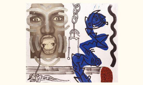Keith Haring-Keith Haring - Portrait de Grace Jones-1988
