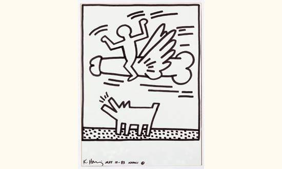 Keith Haring-Keith Haring - Figural composition-1983