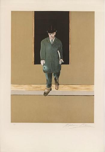 Francis Bacon-Left panel of a Triptych: Woodron wilson in paris for the peace conference, 1919-1987