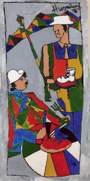 Maqbool Fida Husain-Charlie-2006