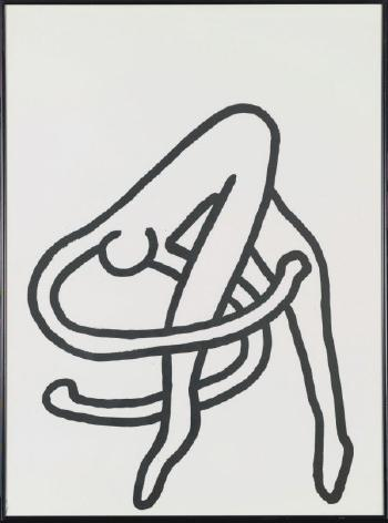 Keith Haring-Keith Haring - Dessin pour les Ballets de Monte Carlo (Drawing for the Monte Carlo Ballet)-1989