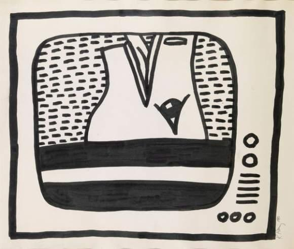Keith Haring-Keith Haring - Composition-1980