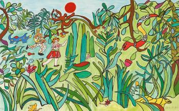 Niki de Saint Phalle-La jungle, (La Jungle II)-1993