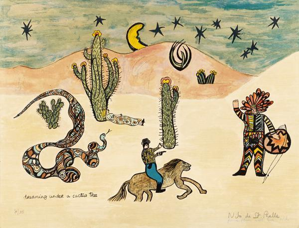 Niki de Saint Phalle-Dreaming Under A Cactus Tree-1975