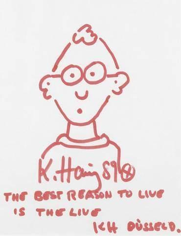 Keith Haring-Keith Haring - Autoportrait the Best Reason to Live is the Live-1989