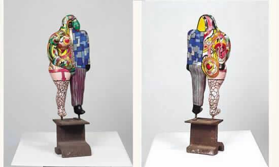 Niki de Saint Phalle-Femme serpent et homme cravate-