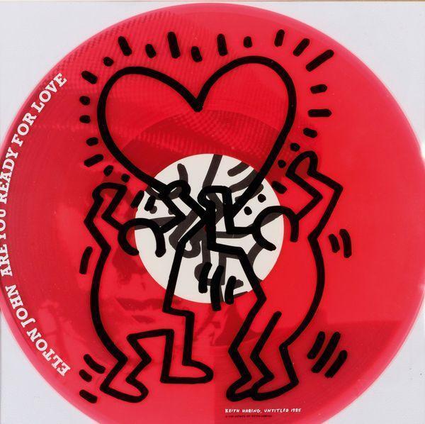 Keith Haring-Keith Haring - Elton John-1985