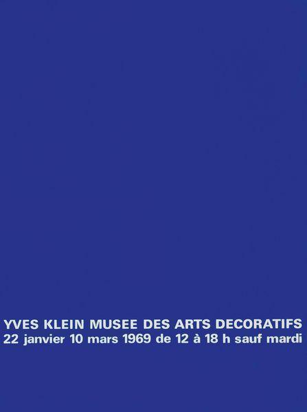Yves Klein-Yves Klein - Musee Des Arts Decoratifs-1969