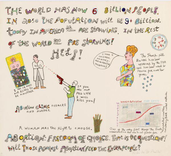 Niki de Saint Phalle-The world has now 6 billion people-