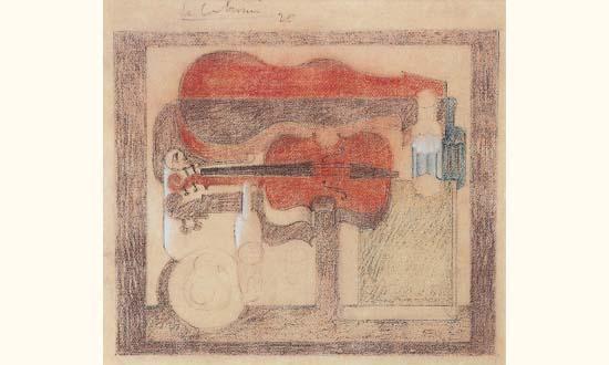 Le Corbusier-Violon et boite a violon rouge-1920