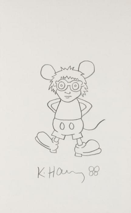 Keith Haring-Keith Haring - Andy Mouse-1988